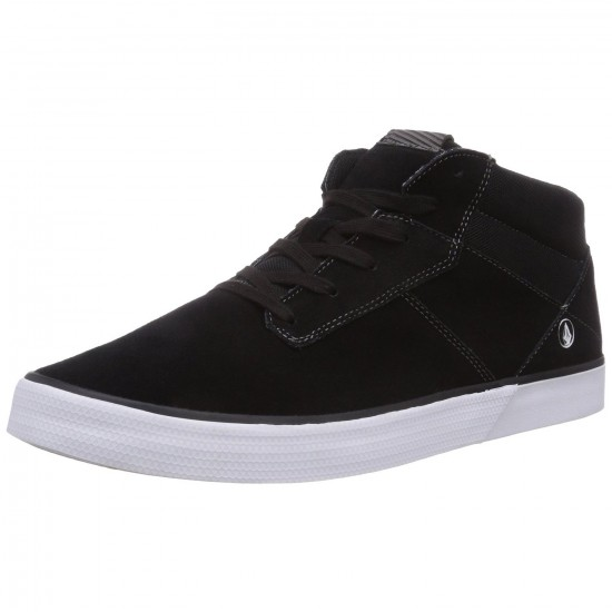 Volcom Grimm Mid 2 Shoes - Black Destructo - 9.0