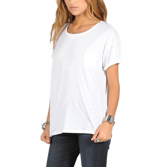 Volcom Lived In Burnout T-Shirt - - White
