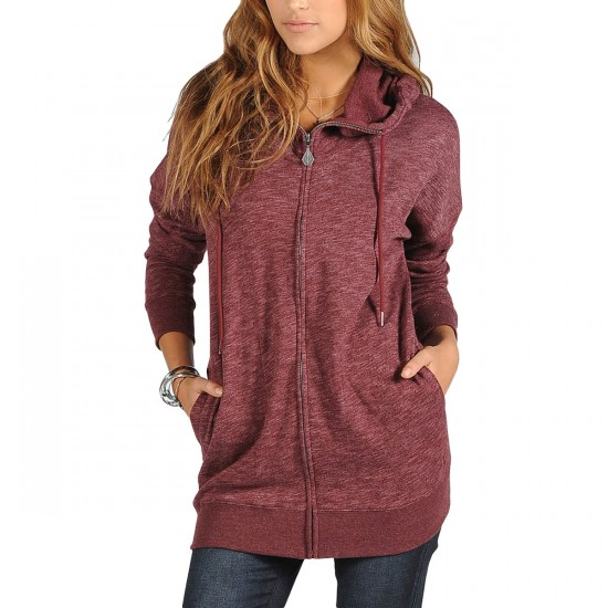 Volcom Lived in Long Zip Up Hoodie - Cabernet