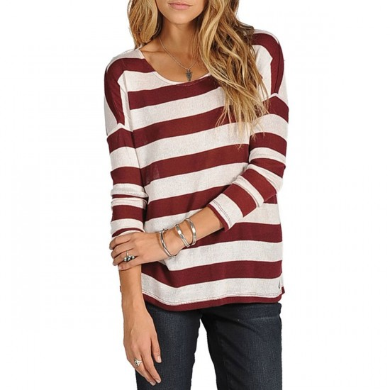 Volcom Hazy Long Sleeve Top - Cabernet
