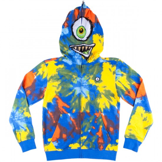 Volcom Mixed Bag Youth Full Zip Hoodie - Multi