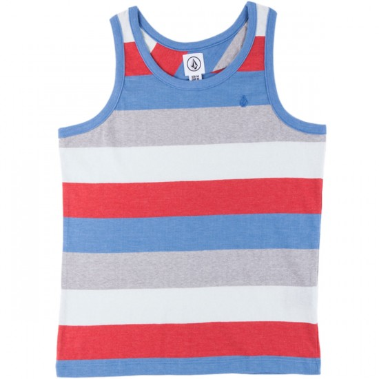 Volcom Paco Youth Tank - Airforce Blue Heather