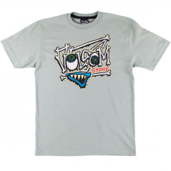 Volcom Vol Bones Youth T-Shirt - Faded Army