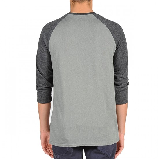 Volcom X Toy Machine 3/4 Sleeve Raglan T-Shirt - Slate Grey Heather