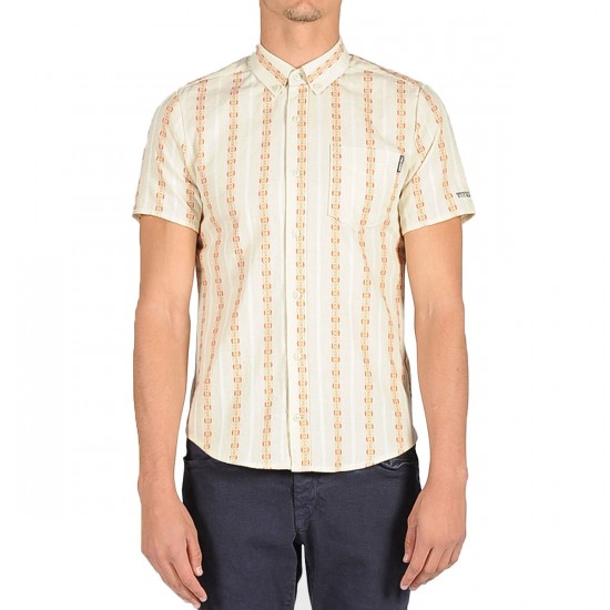 Volcom X Toy Machine Short Sleeve Shirt - Frozen Bone