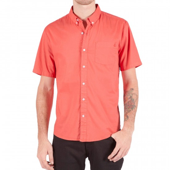 Volcom Weirdoh Faded Shirt - Electric Coral