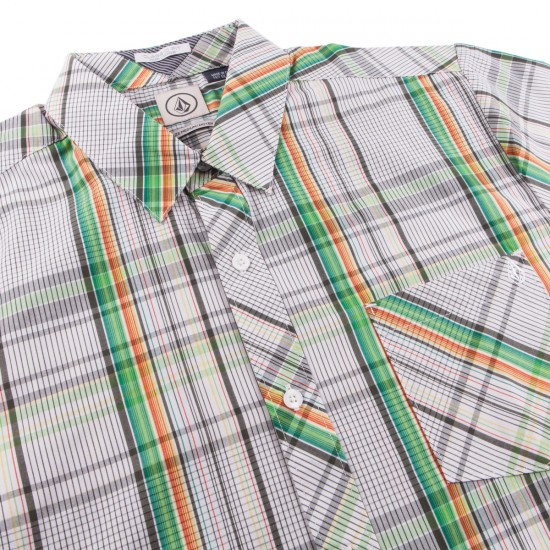 Volcom Weirdoh Plaid Shirt - Evergreen