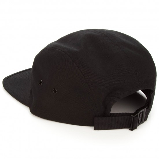 Welcome Scrawl Camp Hat - Black/White