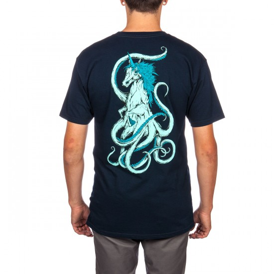 Welcome Seahorse T-Shirt - Navy