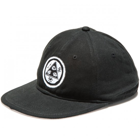 Welcome Talisman Unstructured Snapback Hat - Black/White