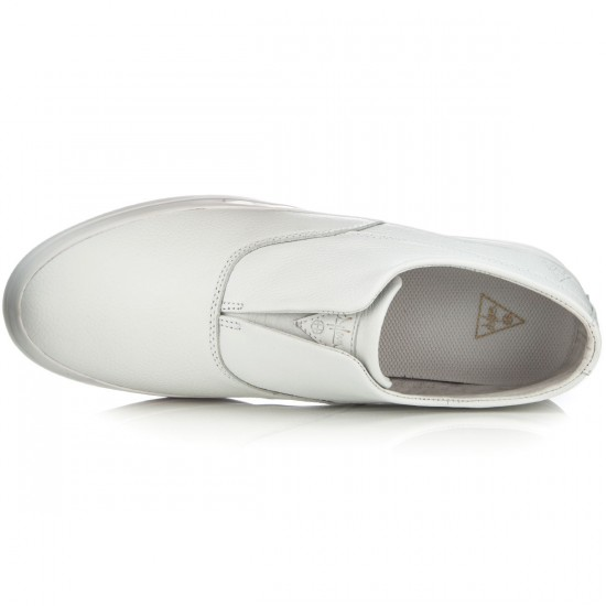 HUF Dylan Slip On Shoes - White Leather - 4.0