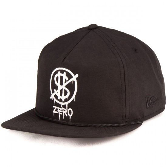 Zero Hardluck Unstructured Snap Hat - Black