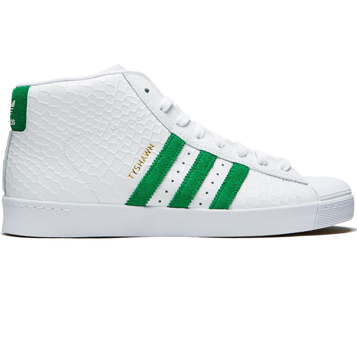 Adidas Tyshawn Pro Model Vulc Adv Shoes - White Green Chalk White - 10.0 39064b117