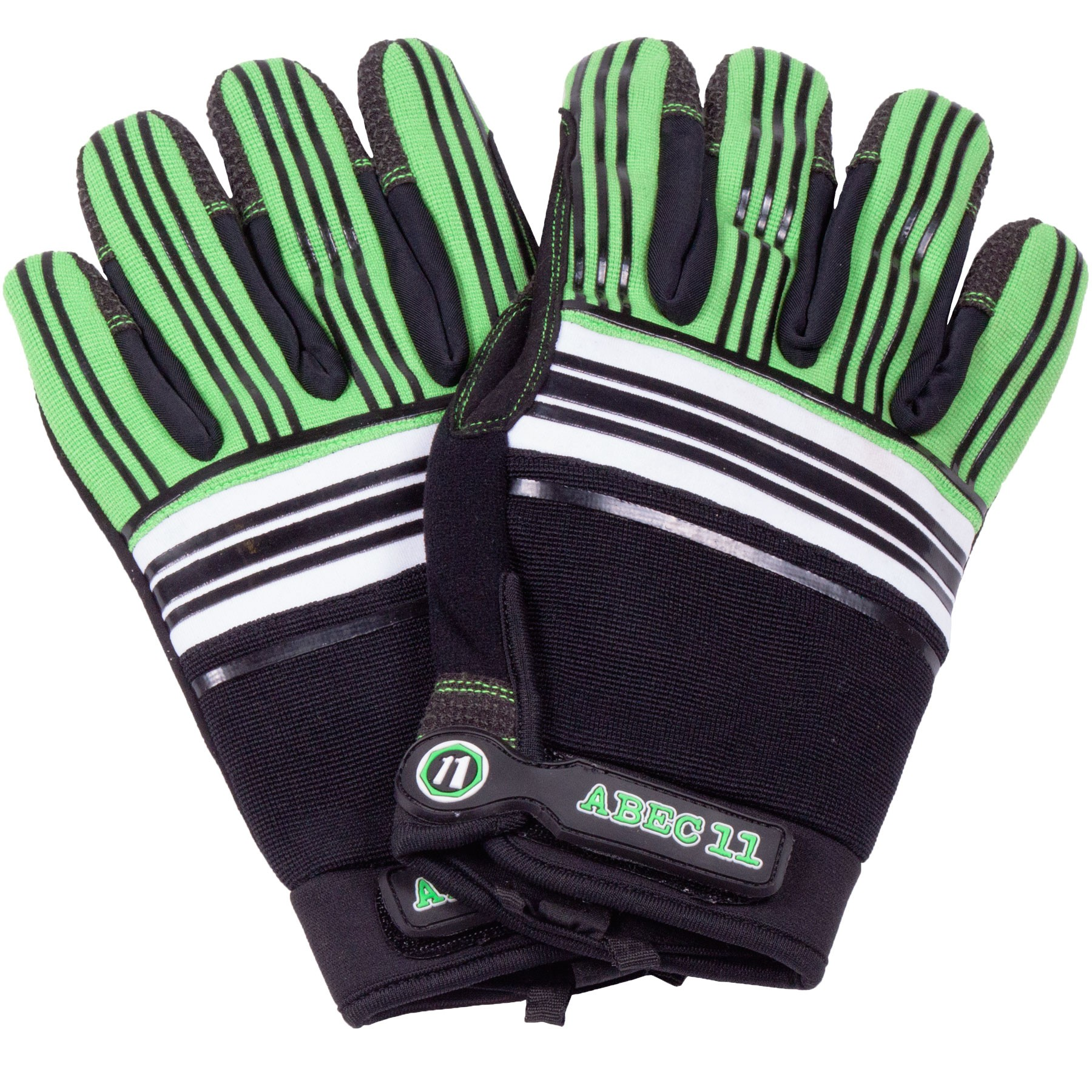 Abec 11 Slide Gloves - Green / Black