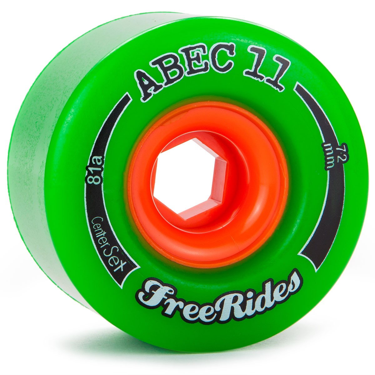 Abec11 Classic FreeRides Longboard Wheels 72mm - CENTER SET