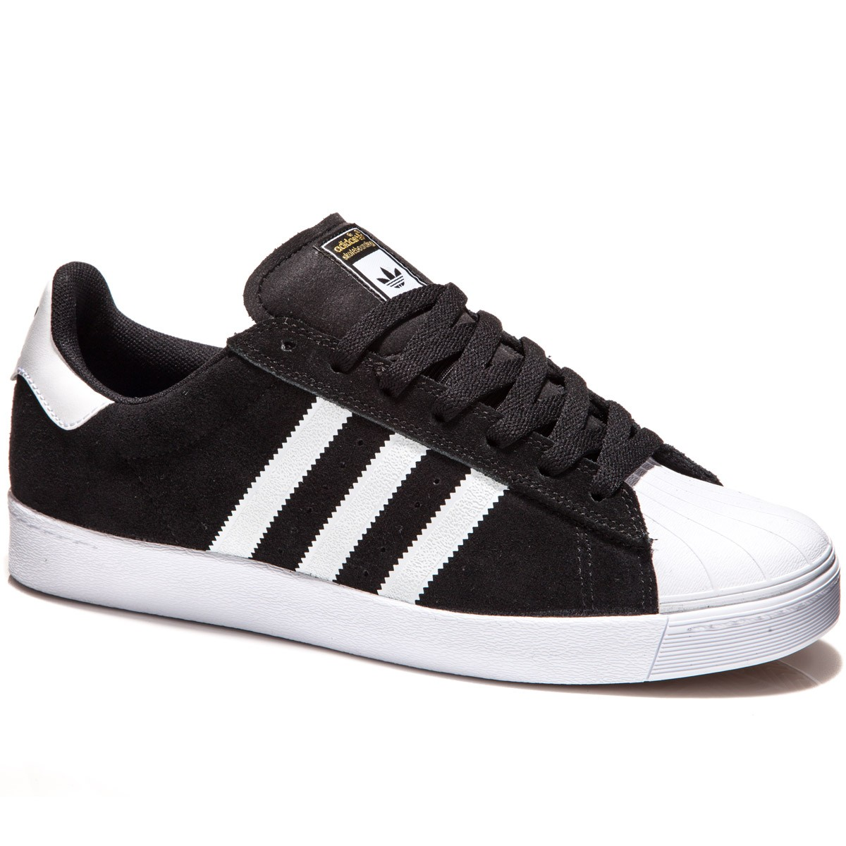 Adidas Superstar Vulc Adv Shoes White And Gold