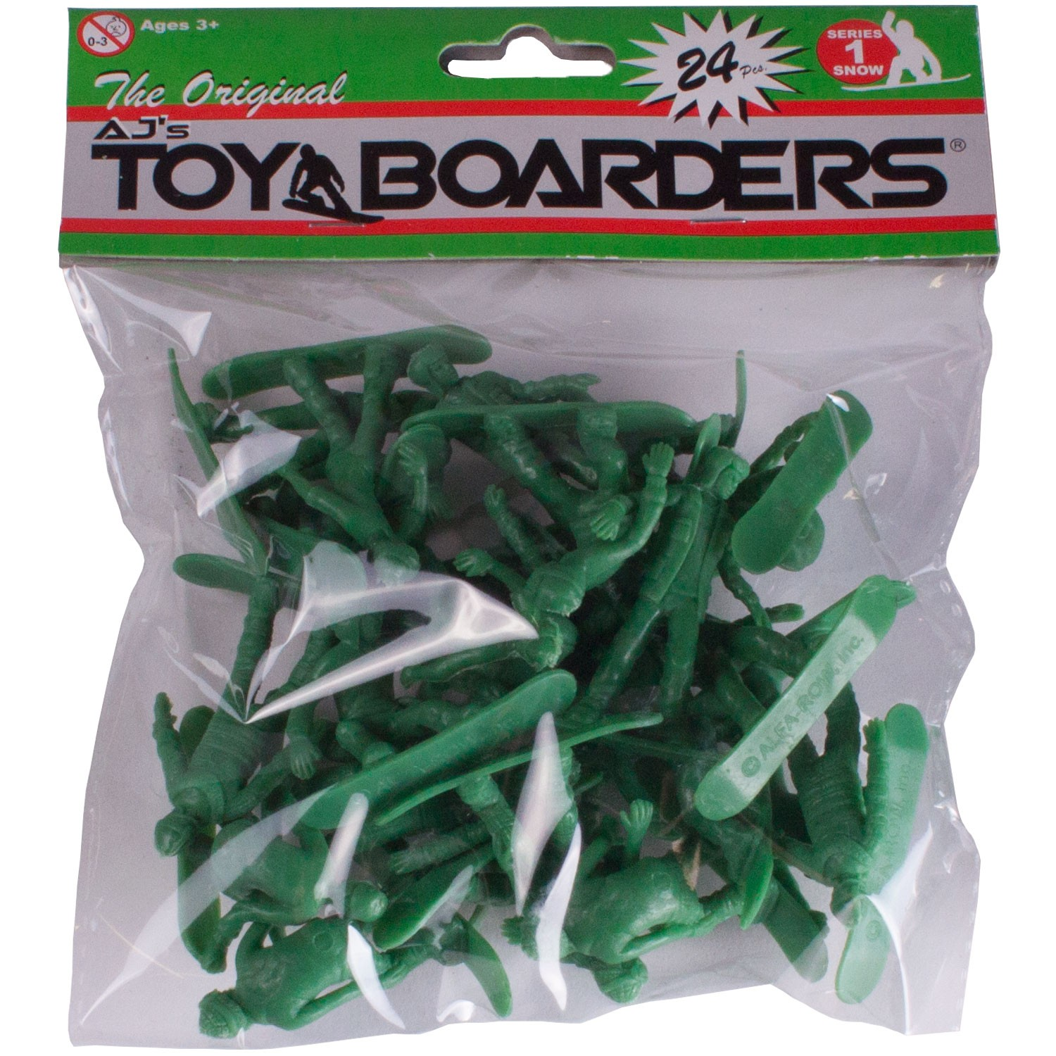 AJ's Toy Boarders 24-Pack - Snow - Series 1