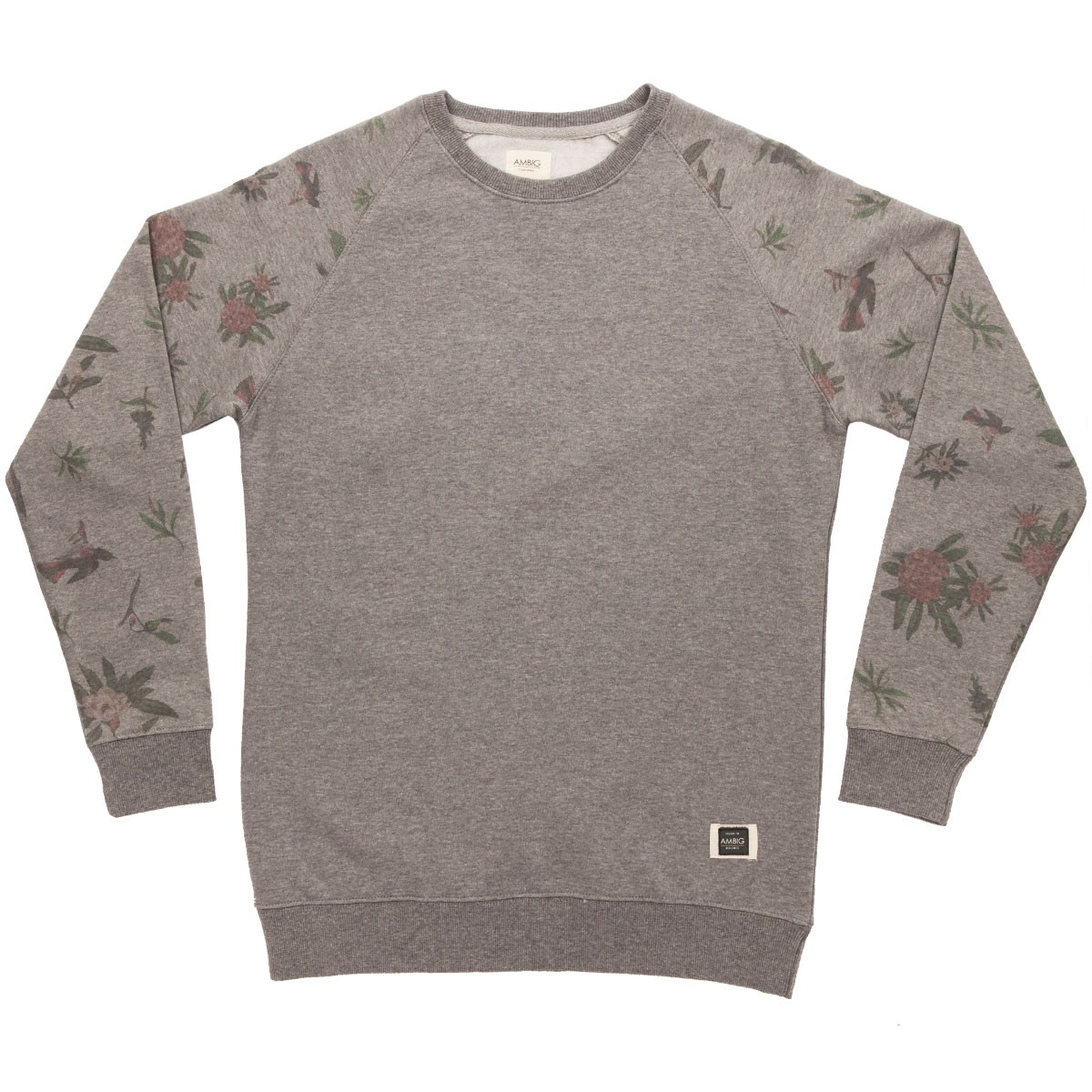 Ambig National Crew Sweatshirt - Grey Heather
