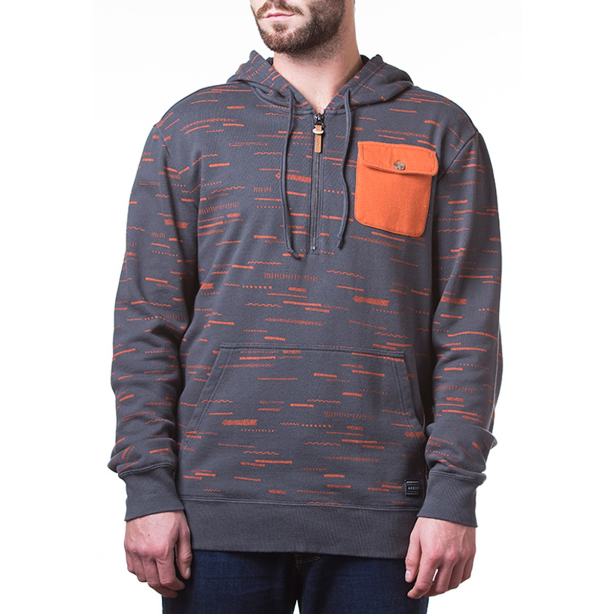 Arbor Apparel Oakwood Zip Up Sweatshirt - Dark Shadow
