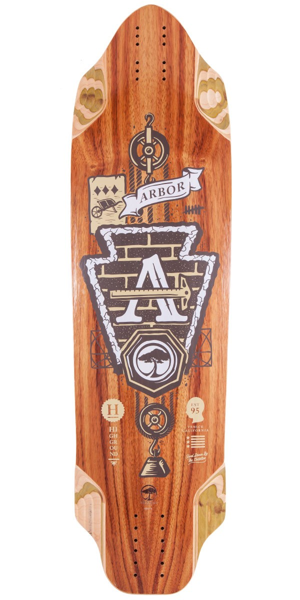 Arbor Highground Longboard Skateboard Deck