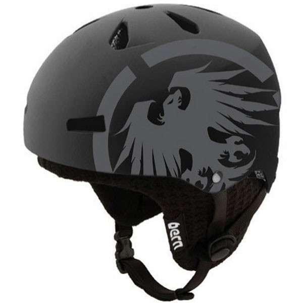 Bern Macon EPS Helmet - Dual Certified - Matte Black Never Summer with Black Knit