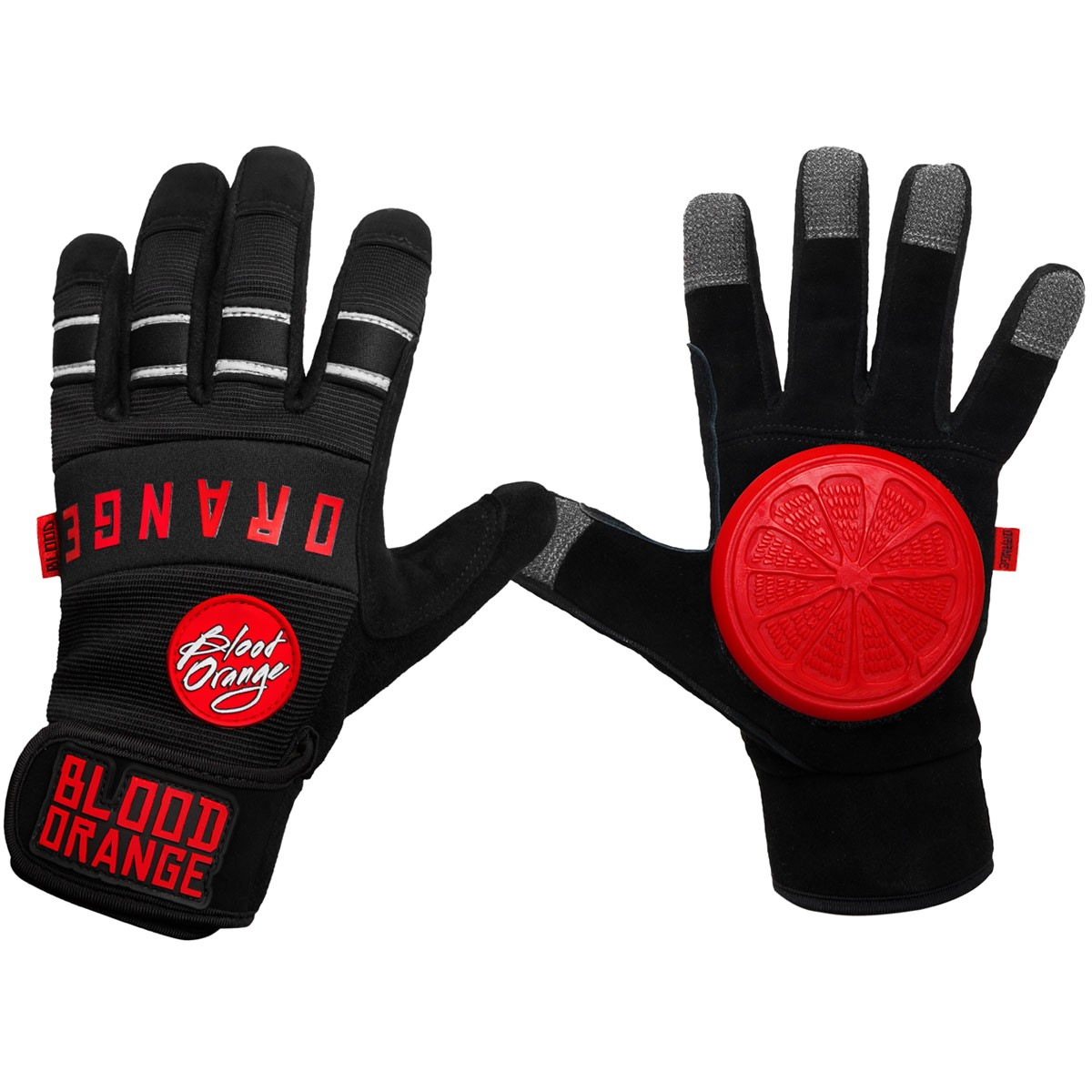 Blood Orange Knuckles Slide Gloves - Black / Black