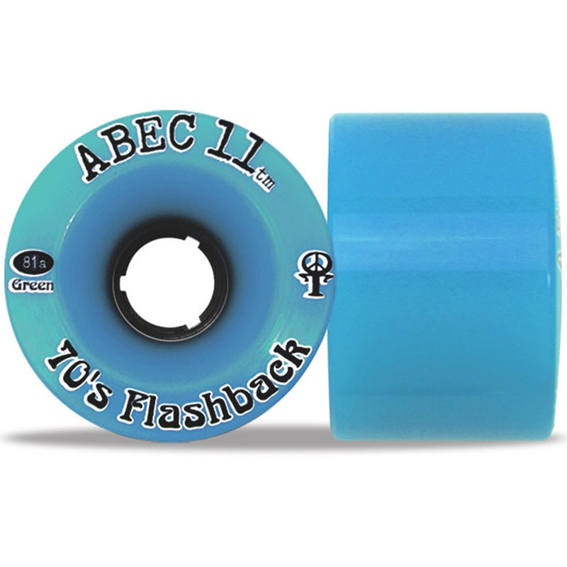 Abec11 70's Flashbacks Longboard Wheels 70mm - Blue Limited Edition