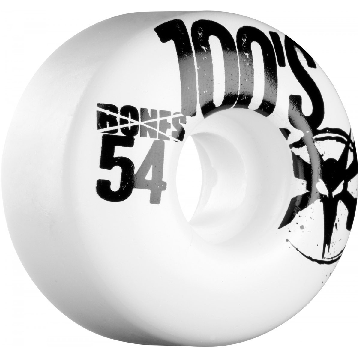 Bones 100s Skateboard Wheels 54mm 100a - White