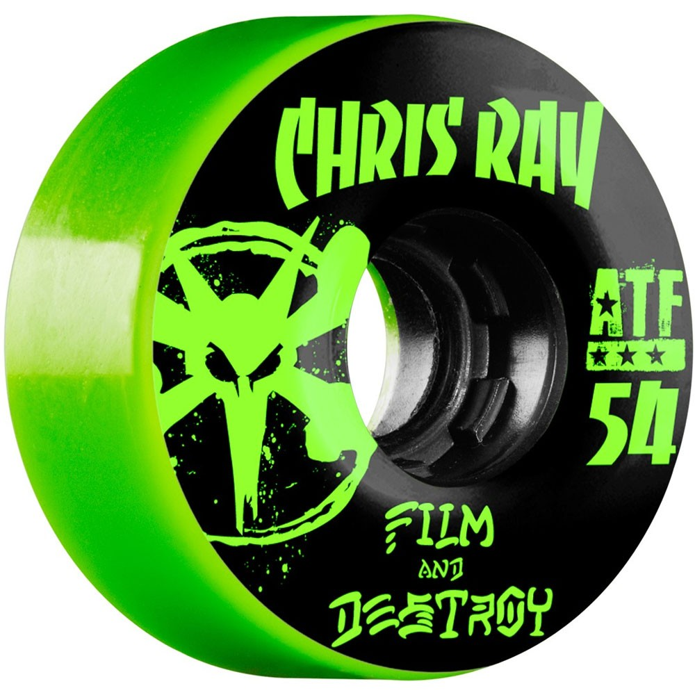 Bones ATF Chris Ray Destroy Skateboard Wheels 54mm 80a - Green