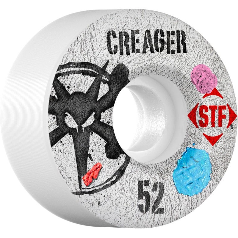 Bones STF Ronnie Creager Bubblegum Skateboard Wheels - 52mm - 83B