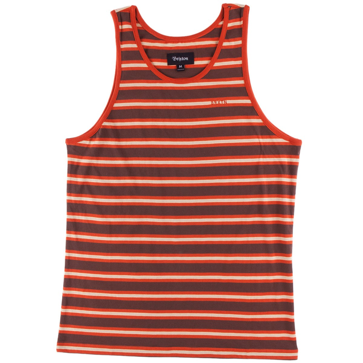 Brixton Abram Tank - Brown/Rust