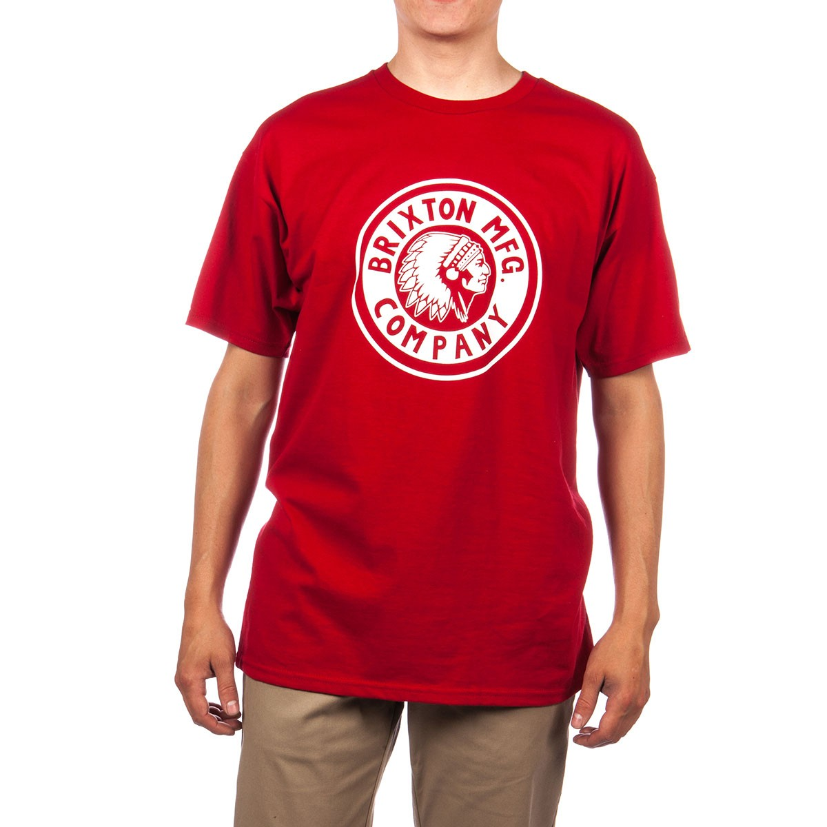 Brixton Rival T-Shirt - Red