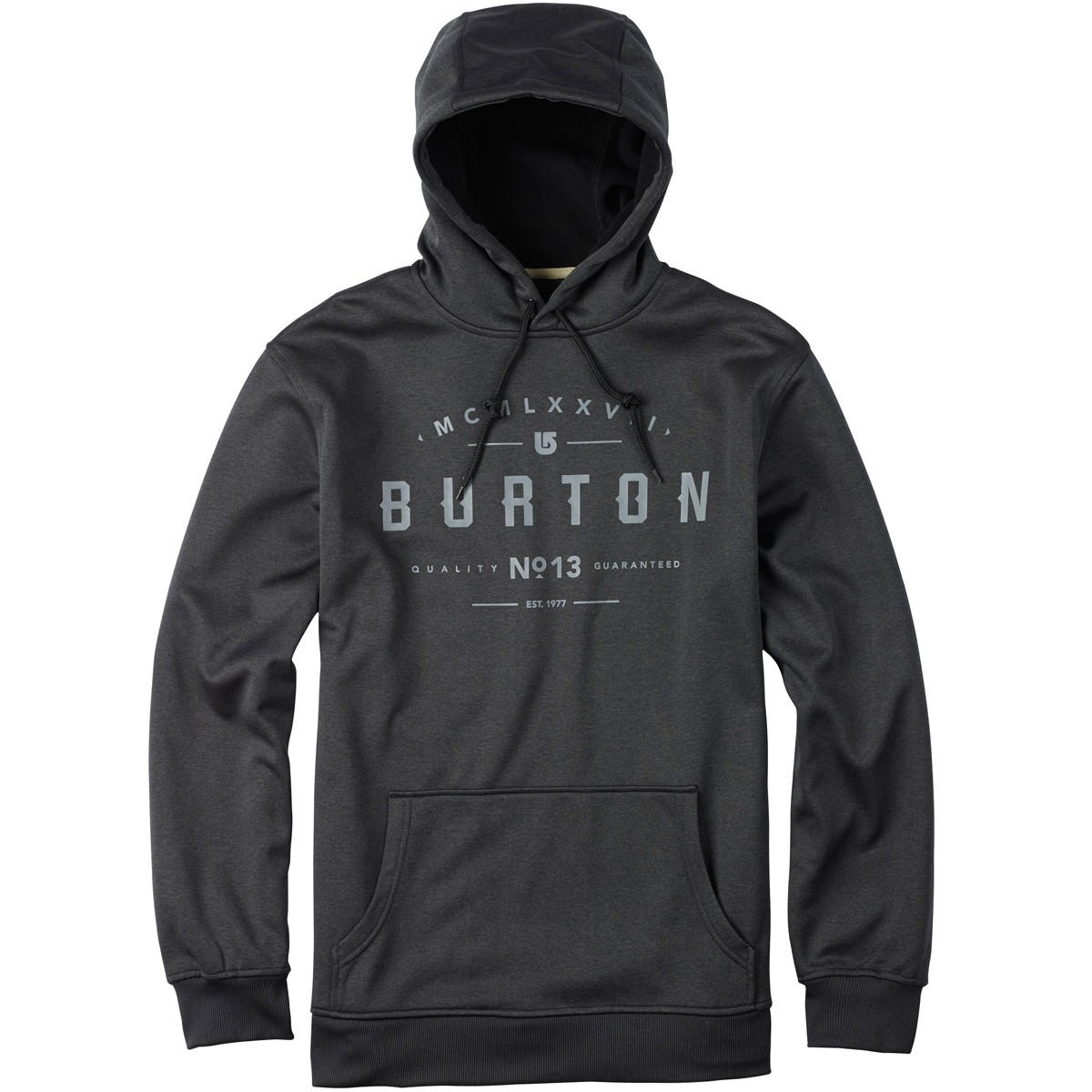 Burton Crown Bonded Pullover Hoodie - True Black Heather