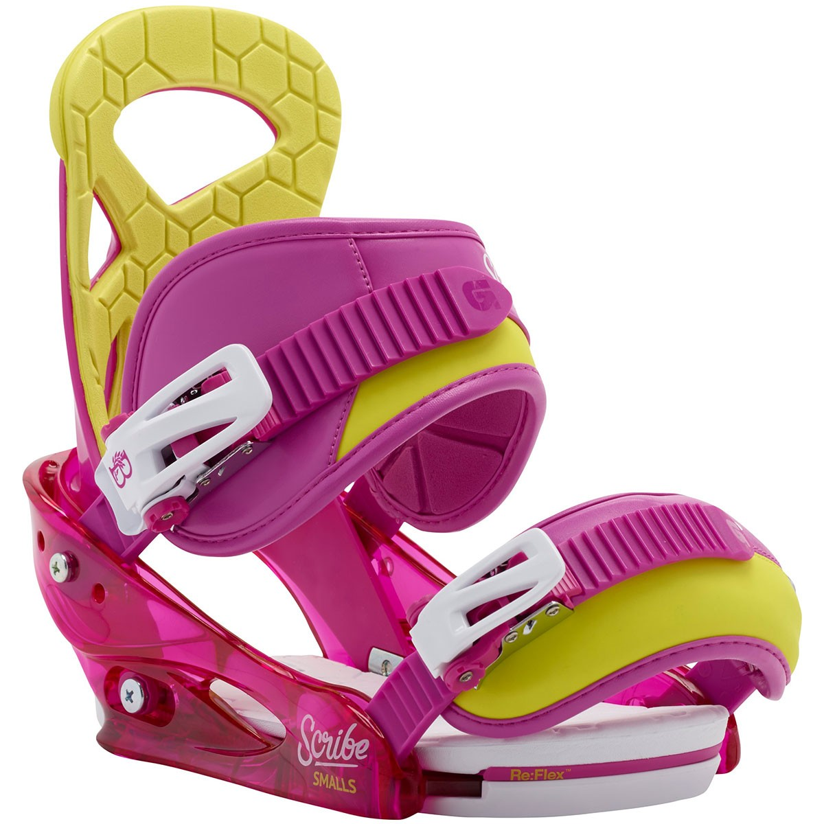 Burton Scribe Smalls Youth Snowboard Bindings 2015 - Razzle Dazzle Pink