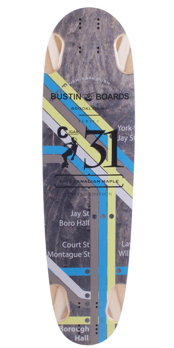 Bustin Boards Cigar 31 Longboard Skateboard Deck