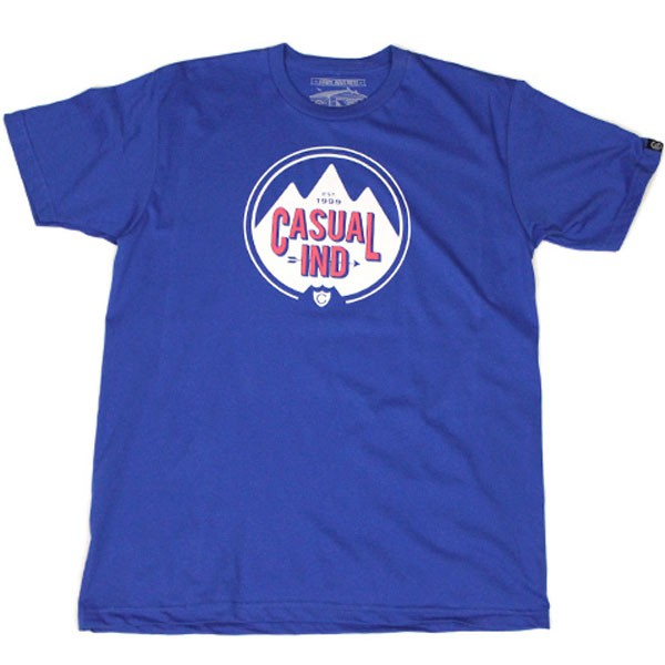 Casual Industrees The Alps T-Shirt - Royal Blue