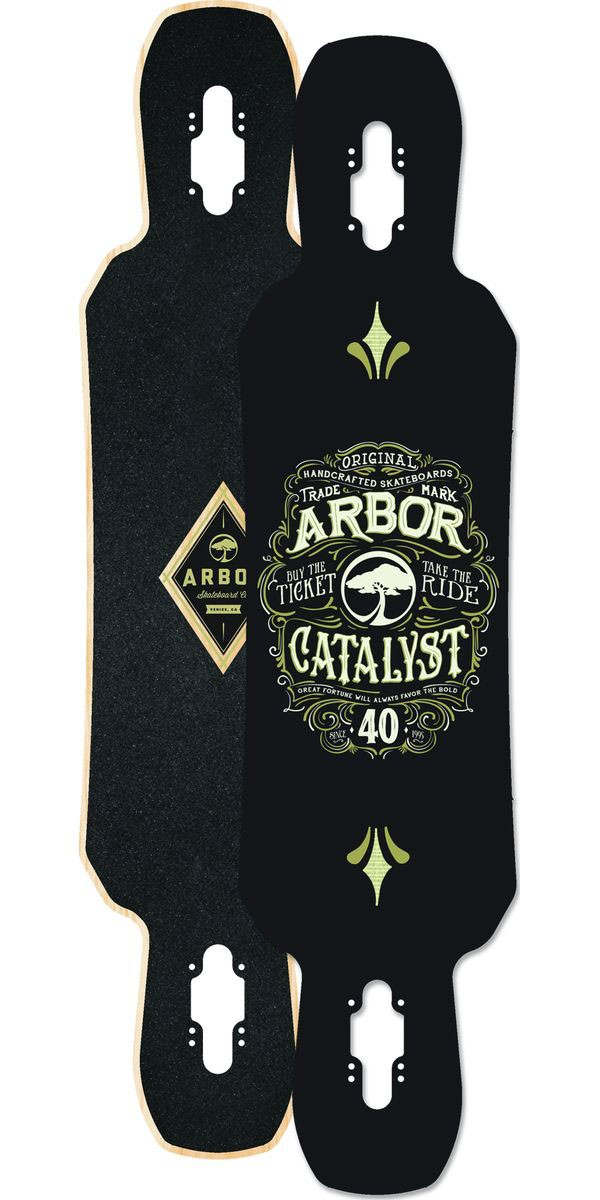 Arbor Catalyst Longboard Skateboard Deck - 2014