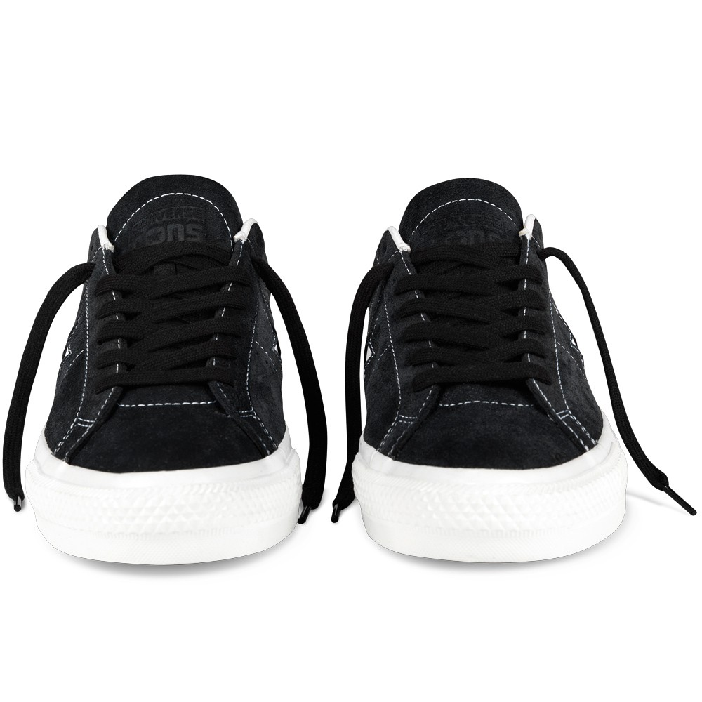 Converse One Star Pro Suede Shoes BlackWhite 8.0
