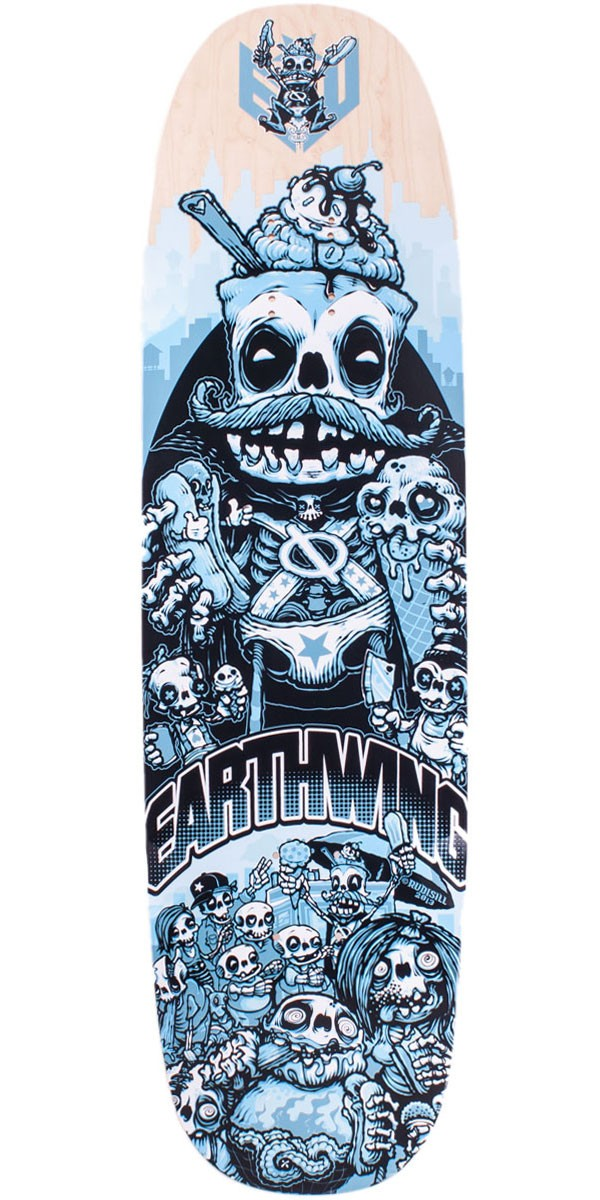 "Earthwing Drifter 33"" Brain Freeze Longboard Skateboard Deck"