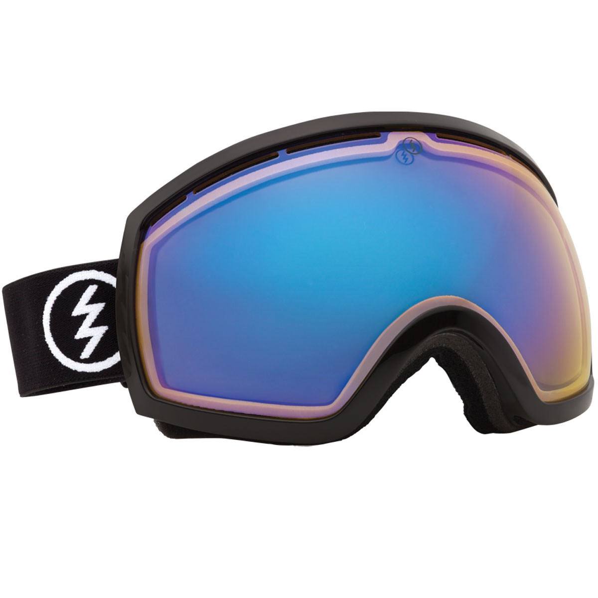 Electric EG2 Snowboard Goggles 2014 - Gloss Black - Yellow / Blue Chrome
