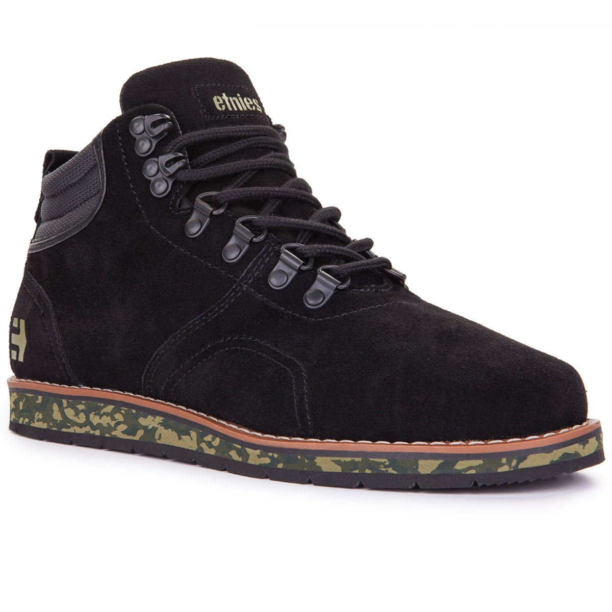 Etnies Polarise Shoes - Black/Green - 9.0