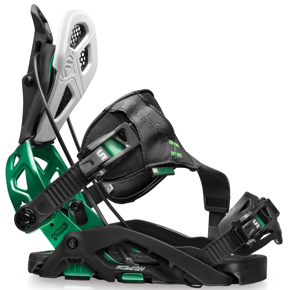 Flow Fuse GT Hybrid Snowboard Bindings 2015 - Black / Green