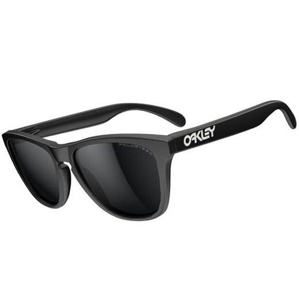 Oakley Frogskins Sunglasses - Matte Black/Black Iridium Polarized