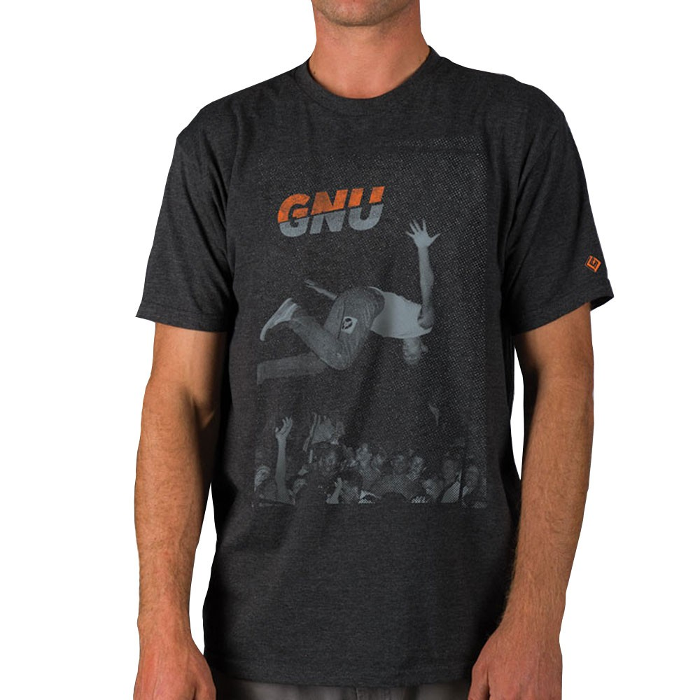 Gnu Colver T-Shirt - Heather Charcoal