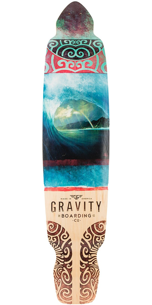 "Gravity 43"" Dropkick Rainbow Barrel Longboard Deck"