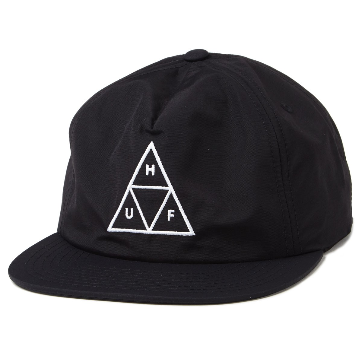 b32ea259a9b Huf Triple Triangle Unstructured Snapback Hat - Black