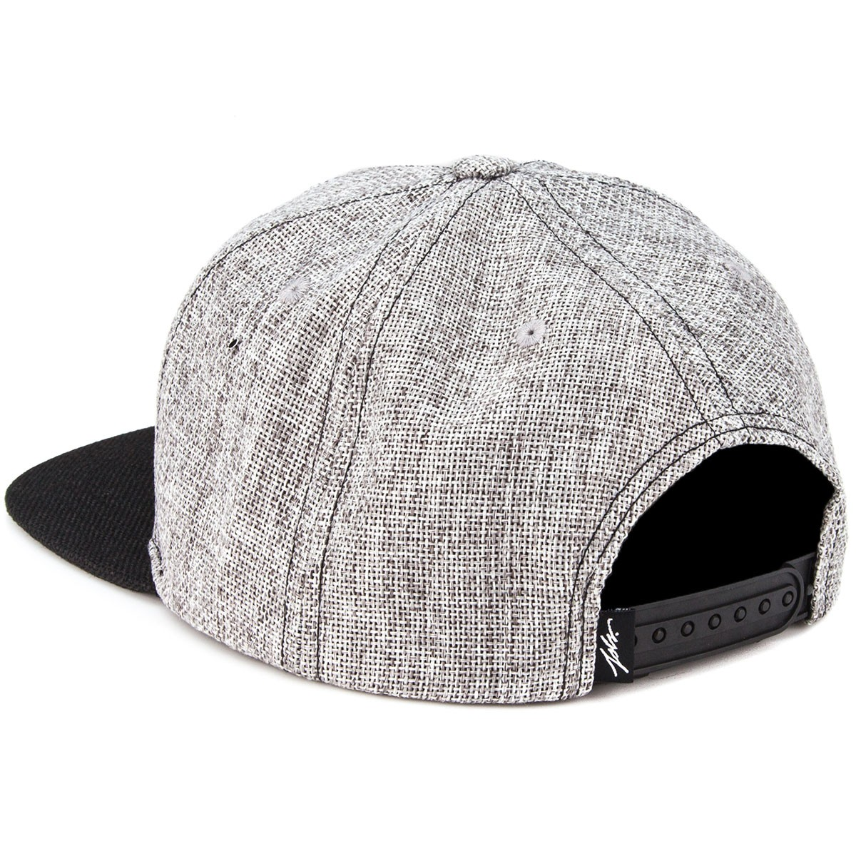 dffc8f5341e JSLV Highlife Hemp Snapback Hat - Charcoal Black