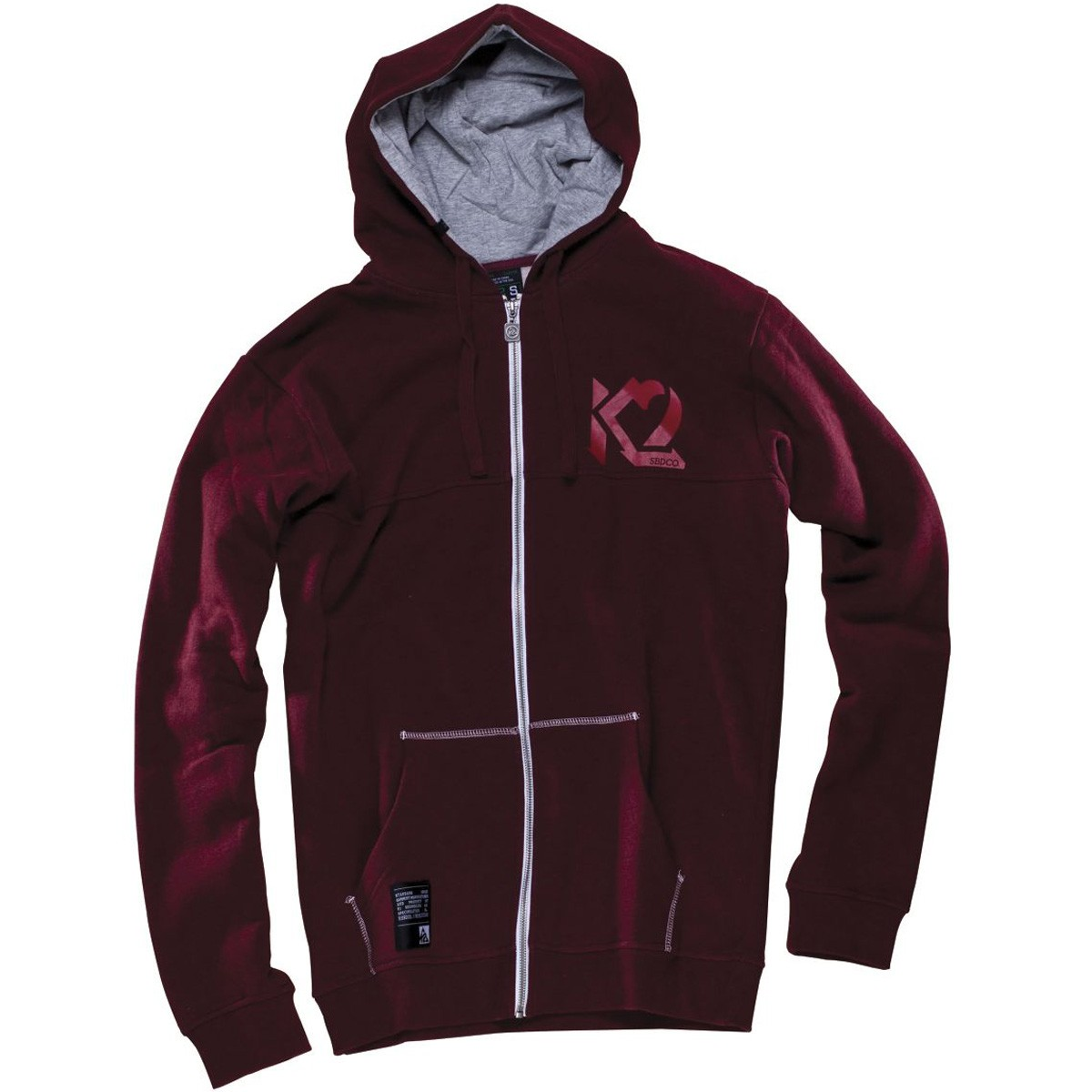 K2 Howl Full Zip Hoodie - Maroon Heather