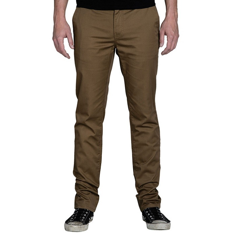 KR3W K Slim Chino Pants - Coffee