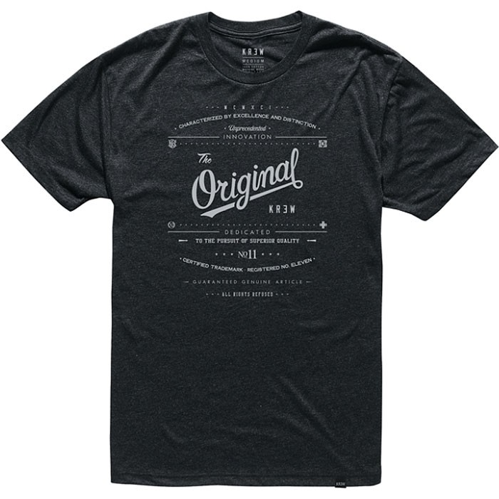 KR3W Unprecedented T-Shirt - Black/Black Heather